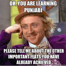 Meme Punjabi - oh you are learning punjabi please tell me about the other