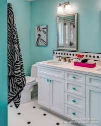 colorful glam in a shared bath for teen sisters kids rooms