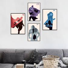 online get cheap batman wall poster aliexpress com alibaba group batman superman joker minimalist art canvas poster painting superheroes movie wall picture print children room decoration