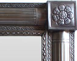 oil rubbed bronze small tin mirror