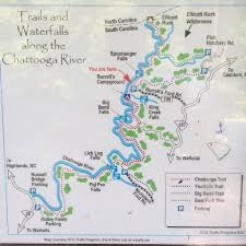 Big Bend Map Visit Big Bend Trail And Falls Near Mountain Rest Sc
