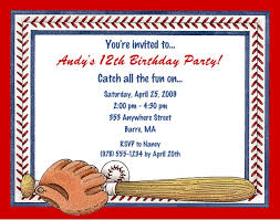 baseball birthday invitations u2013 gangcraft net