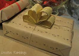 pretty stamped gift wrap creative ramblings