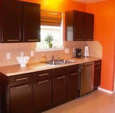 Orange Kitchen Cabinets Painted Kitchen Cabinets Behr Espresso Bean Satin Finish