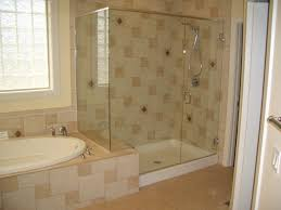 gray mosaic marble wall tile paneling walk in bathroom shower with