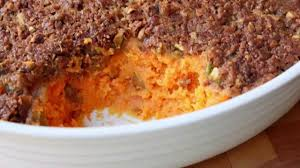 sweet potato casserole with pistachio crust thanksgiving sweet