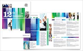 conference brochure template 18 conference brochure templates free