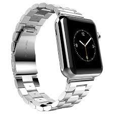 steel link bracelet images Stainless steel link bracelet for apple watch 42mm silver jpg