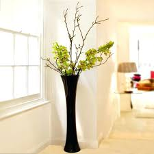 Glass Vase Decoration Ideas Decorative Vase With Bamboo Sticks Glass Floor Fillers 25525