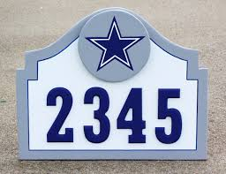 Dallas Cowboys Home Decor Dallas Cowboys Address Sign For Home Apartment Office Wood