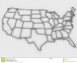 United States Map Black And White by Map Of The United States Royalty Free Stock Photo Image 5552165