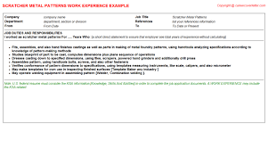 Mover Resume Examples by Metal Cv Work Experience Samples