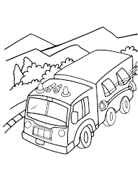fire engine in valley coloring page download free fire engine in