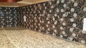 Kitchen Mosaic Backsplash Ideas Kitchen Update Ornamental Tan Granite Countertops With A
