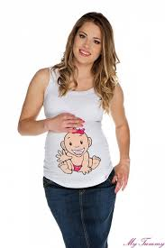 tehotenska moda těhotenská tílka s potiskem my tummy luxusní těhotenské a
