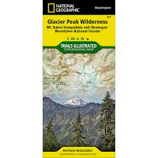 Mount Washington Trail Map by 819 Mount Jefferson Mount Washington Trail Map National