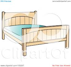 royalty free rf clipart illustration of a simple bed frame with