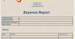 Detailed Expense Report Template by Microsoft Word Templates Free Expense Report Template