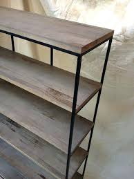 bookcase steel and wood shelving unit stainless steel and wood