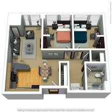 2 bedroom 1 bath floor plans apartment floor plans near marquette the marq