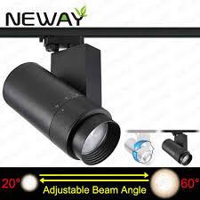 pro track lighting manufacturer 40w adjustable beam angle led track light art gallery lighting