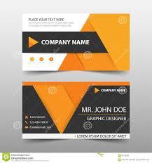 orange corporate business card name card template horizontal