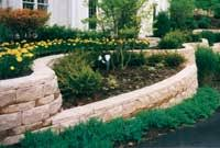 retaining wall terraces and planters