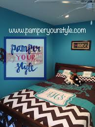 Pony Comforter Horse Duvet Or Comforter Teal And Brown Horse Daybed