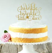 twinkle twinkle little star cake topper cake decoration glitter