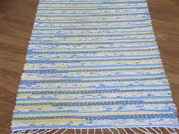 Blue Bathroom Rugs Handwoven Rag Rugs Two And A Half Feet Wide Elizabeth U0027s Loom Room