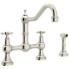 Polished Nickel Kitchen Faucets Ru4755xpn2 Perrin U0026 Rowe Two Handle Kitchen Faucet Polished