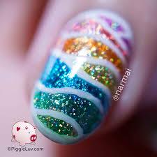 piggieluv glitter nail foil landscape nail art