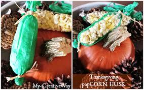 my creative way thanksgiving popcorn husk