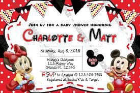 mickey mouse baby shower invitations novel concept designs baby mickey minnie mouse baby shower