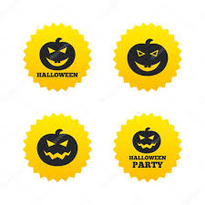 halloween party icons pumpkin symbol u2014 stock vector blankstock