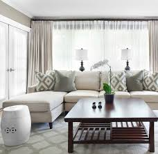 gorgeous monochromatic living room design with grey wall paint