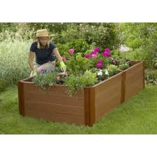 raised garden beds composite timber diy kit veggie planter box