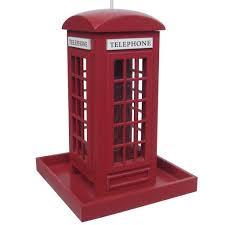 red telephone booth bird feeder u2013 little british shop