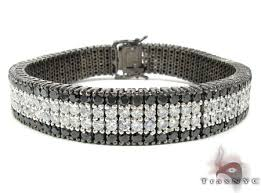 black bracelet diamond images Black and white diamond paulie bracelet 2 mens diamond bracelet jpeg