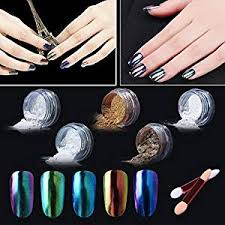buy elite99 chameleon color change nail chrome powder shinning