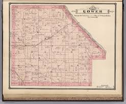 Colorado Map Of Counties by Gower Township Cedar County Iowa David Rumsey Historical Map