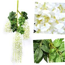 12 x artificial wisteria flowers vines for garden hanging wedding