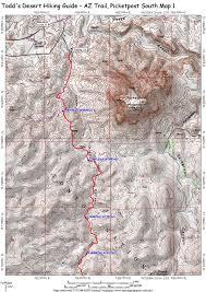 Phoenix Mountain Preserve Map by Picketpost South Az Trail