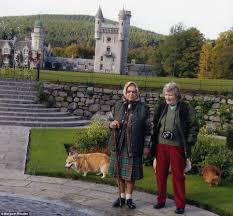 Queen Elizabeth Ii Corgis by The Queen In A Kilt At Balmoral With Some Corgis Queen