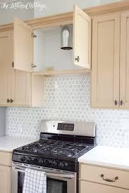 cottage kitchen backsplash sunflower tile caledonia and tile the lettered cottage