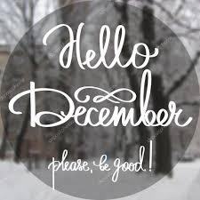 imagenes hola diciembre vector mano caligrafía y texto hola diciembre vector de stock