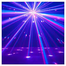 disco light dj adj starburst 75w multi colour led mirror rotating disco light