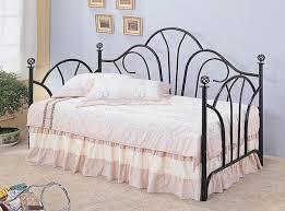 coaster 2613 1138a black metal twin daybed with link spring