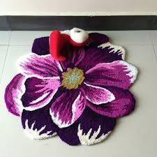 flower shaped rug pink creative rugs decoration