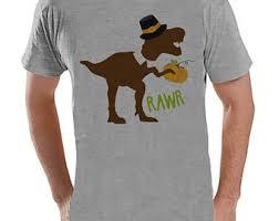 s thanksgiving shirt dino turkey leg